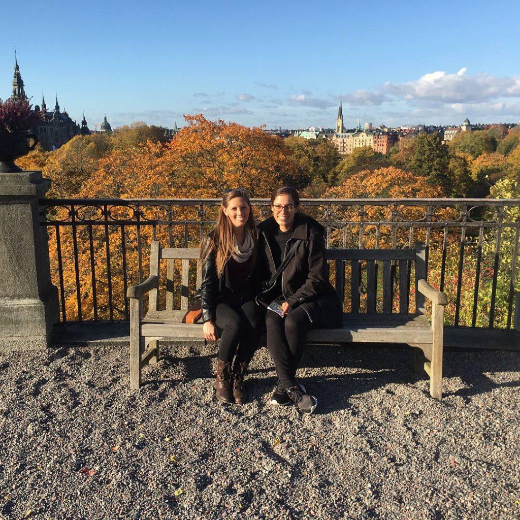 beautiful fall foliage at Skansen