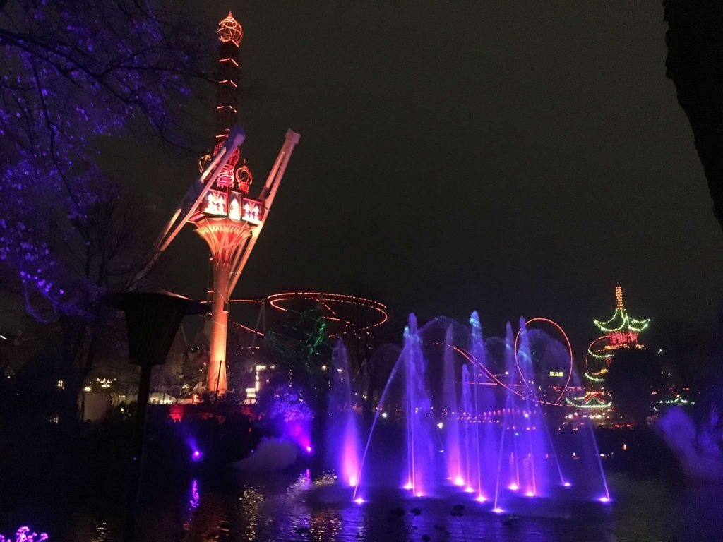 light show at Tivoli