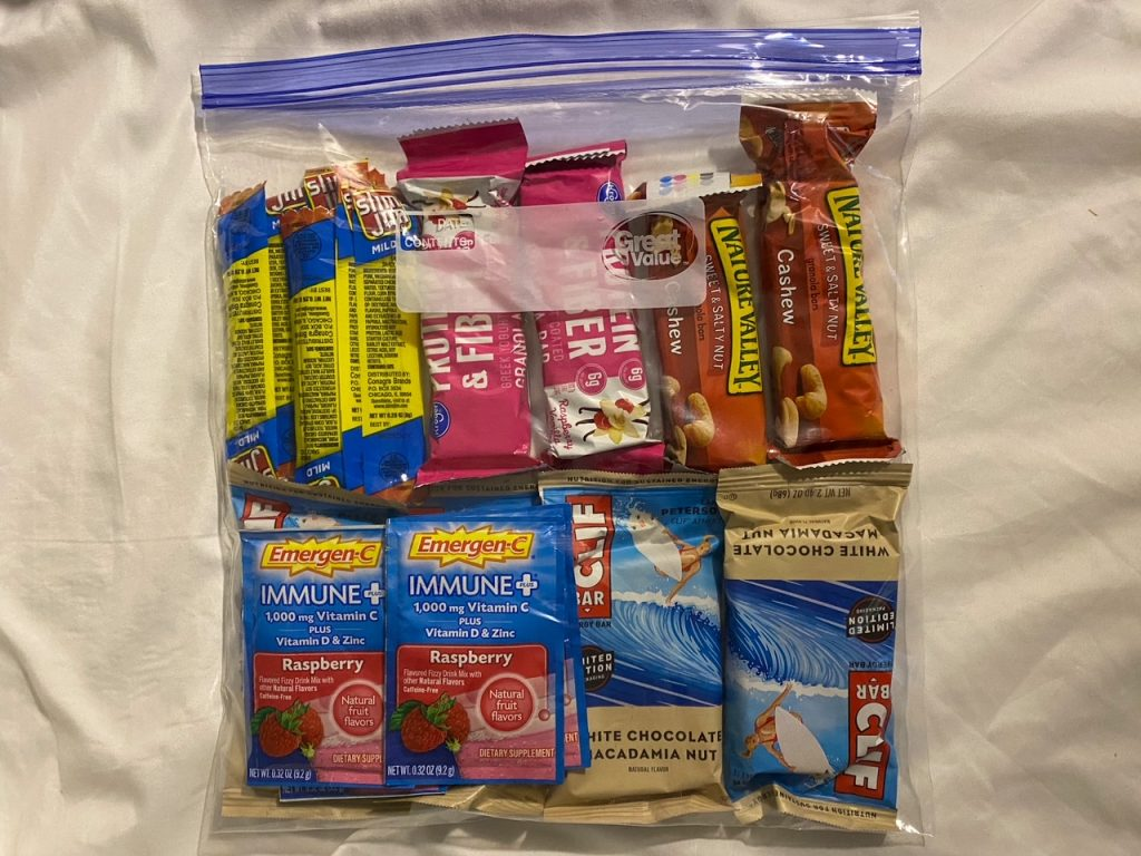 pack lots of snacks for your trips!