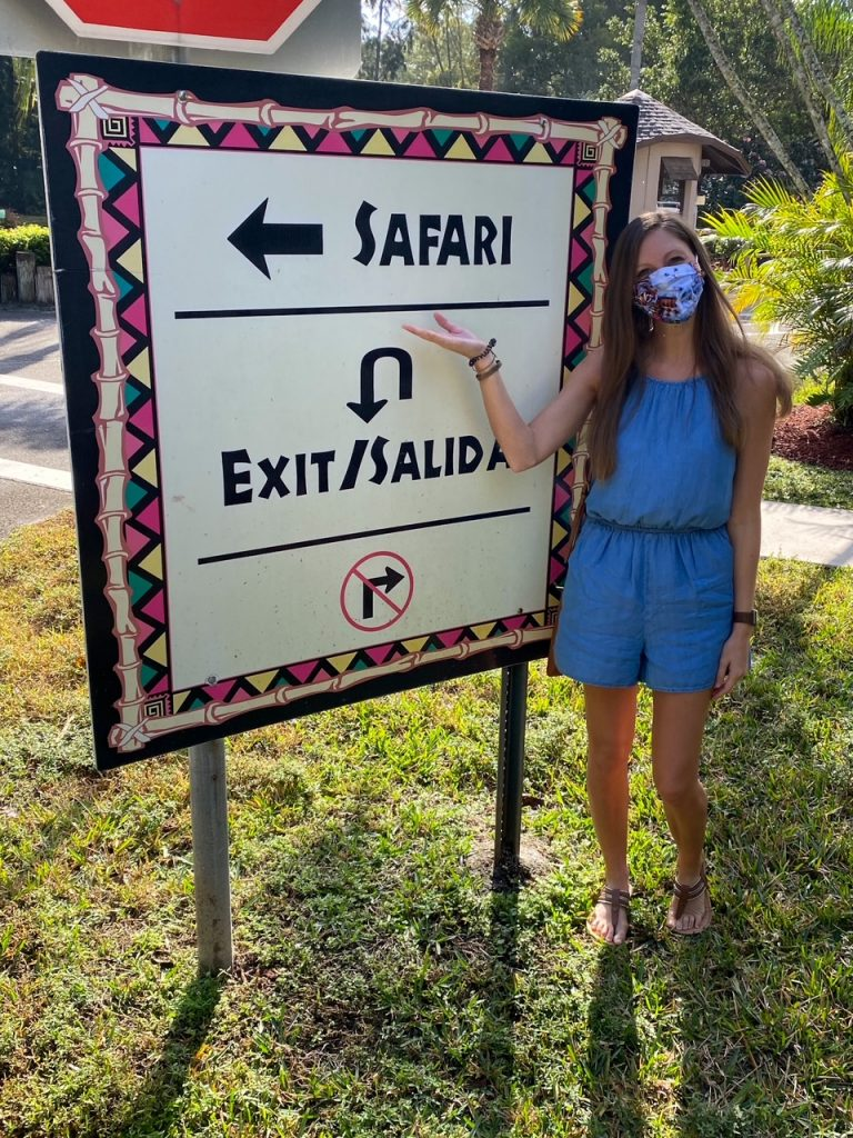 the entrance to Lion Country Safari in West Palm Beach, Florida