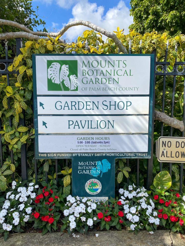 Mounts Botanical Garden in West Palm Beach, Florida