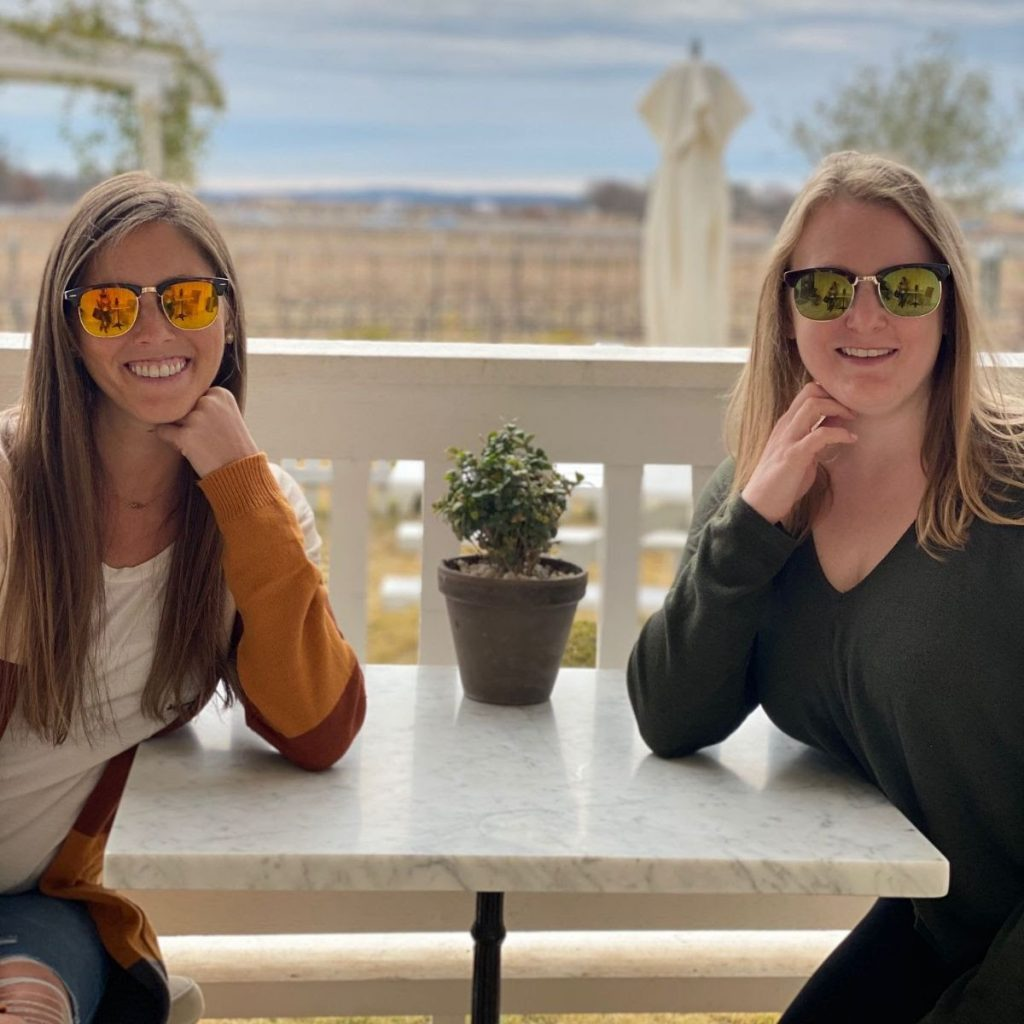 Sara & Candace at Signor Vineyards; main photo for favorite products and new finds page