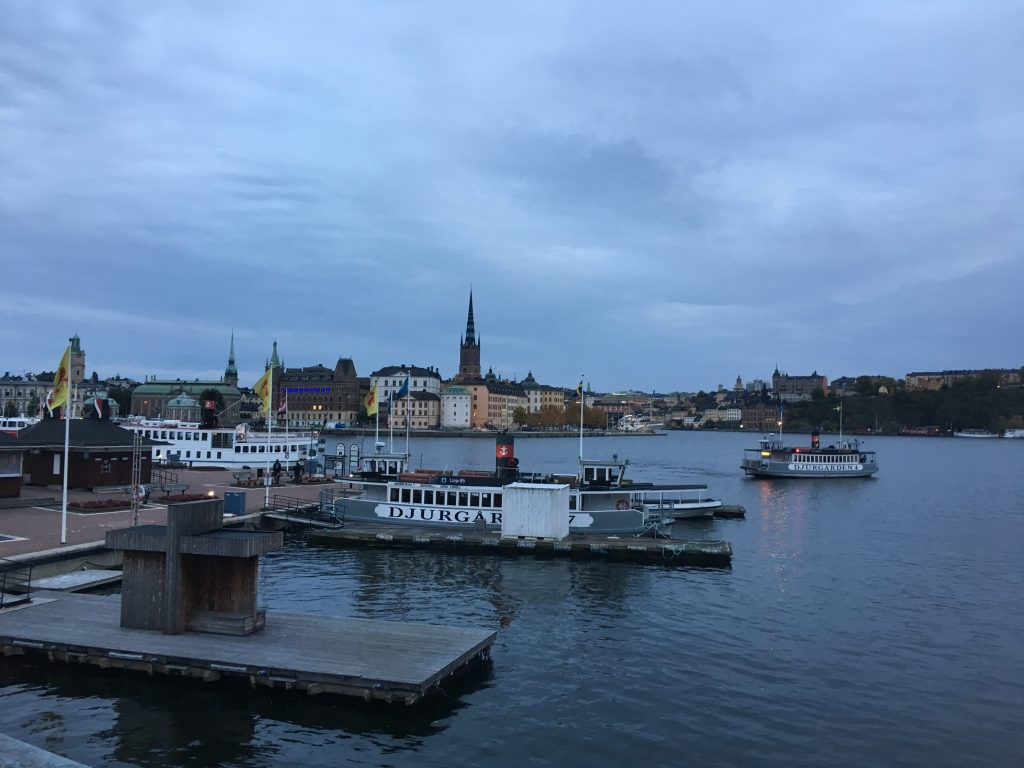 a view of Stadsholmen from Stockholm's City Hall