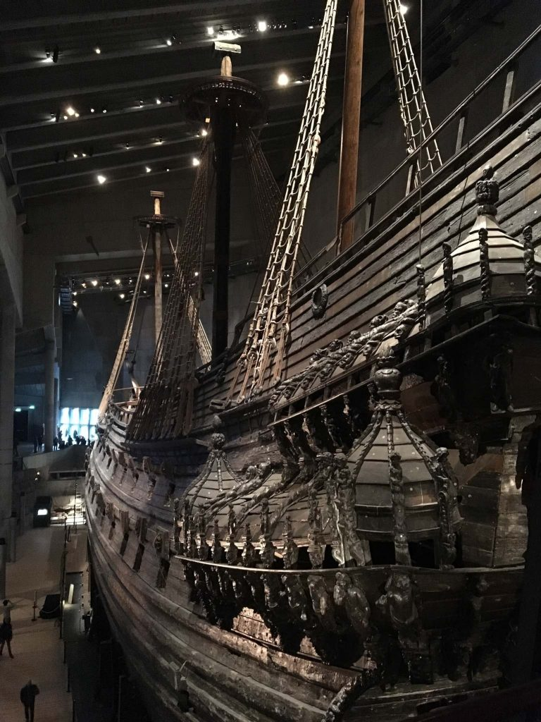 the ship at the Vasa Museum