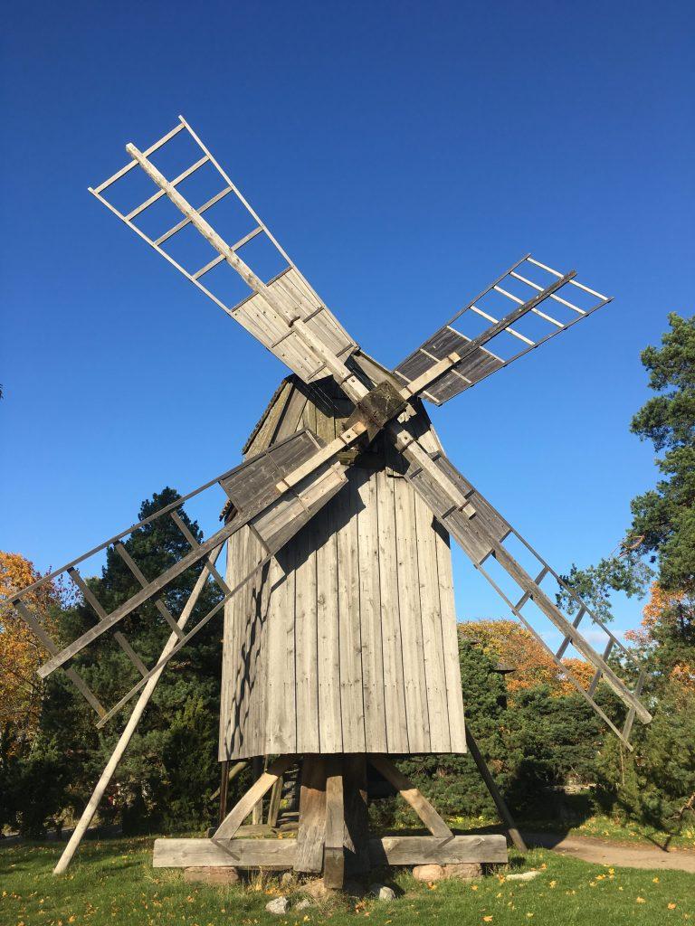 a windmill at Skansen