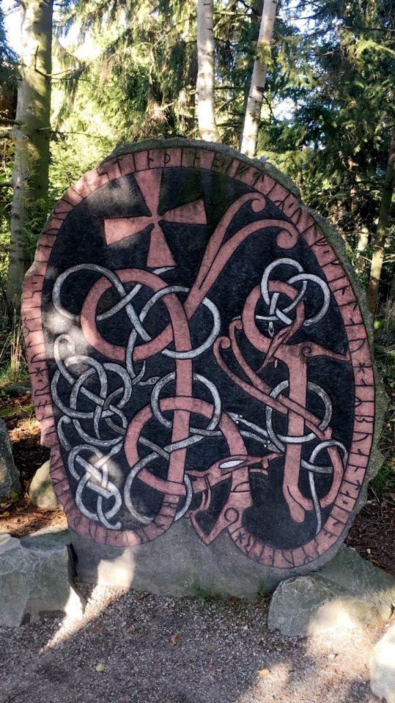 Rune stone found at Skansen