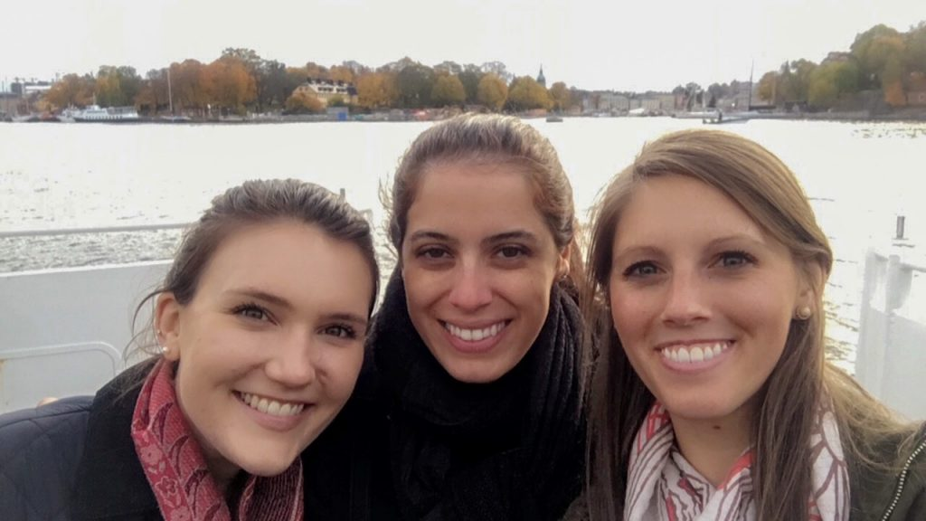 us gals on the ferry to Djurgården