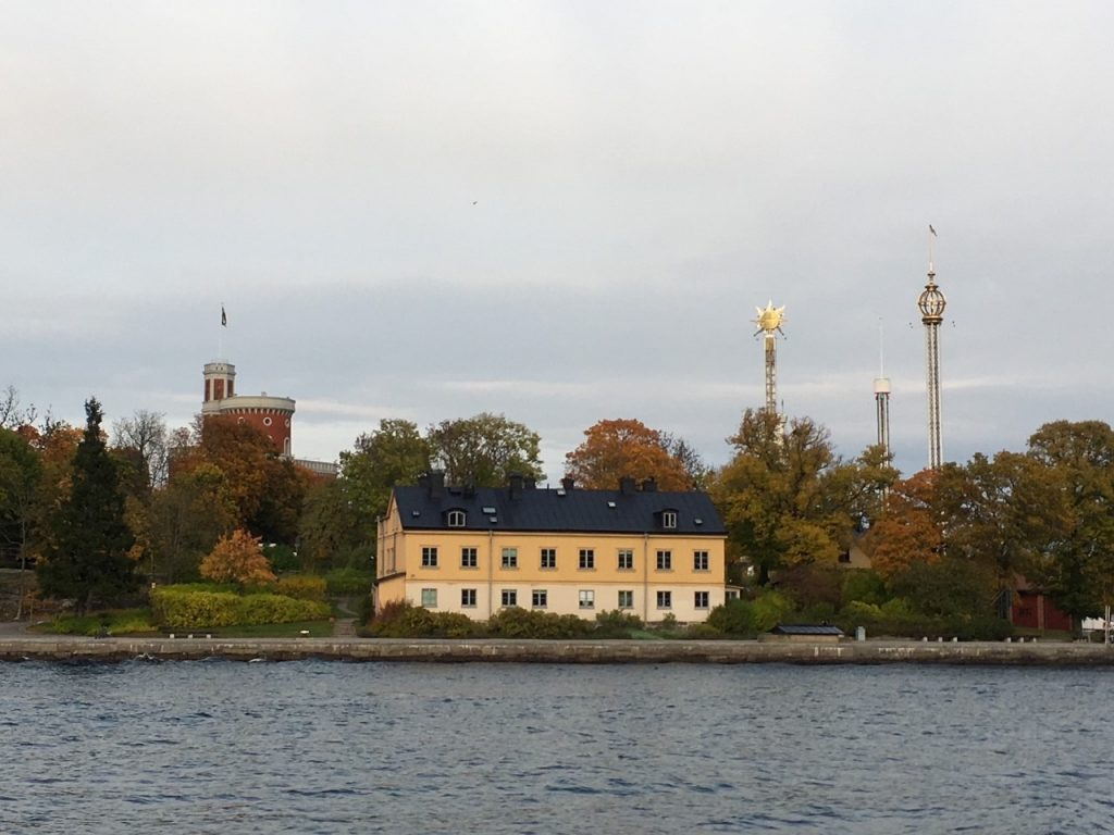 a view of Kastellet from the ferry