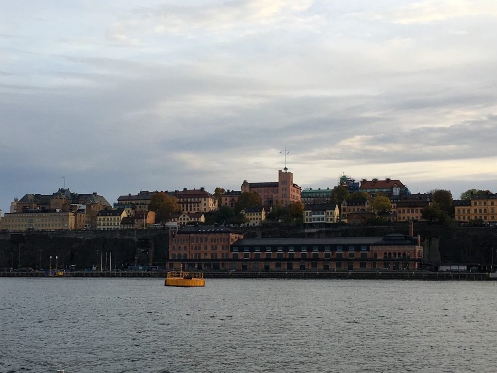 a view of Stockholm, Sweden from the ferry