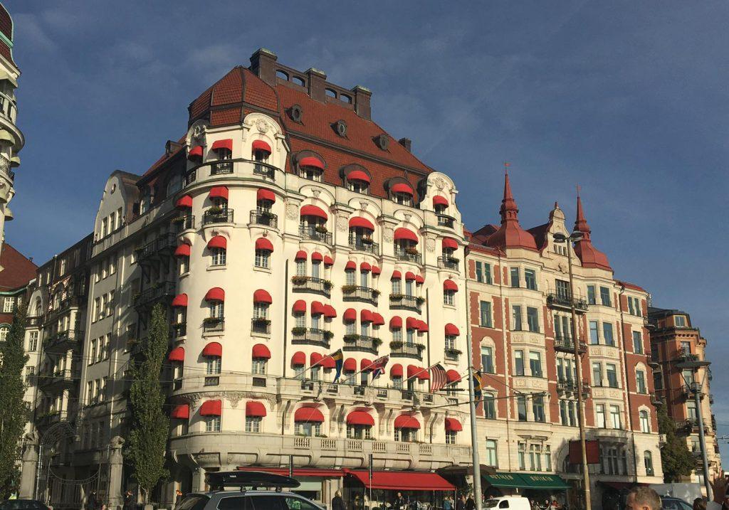 a charming building in Stockholm, Sweden