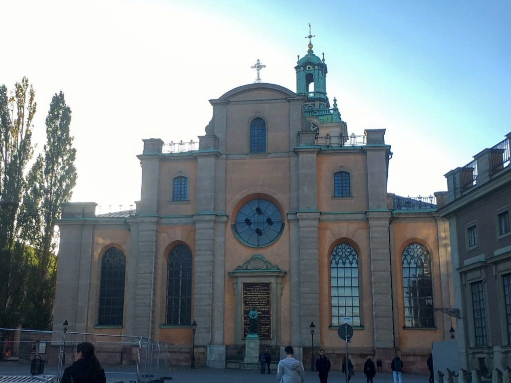 the medieval Storkyrkan Cathedral