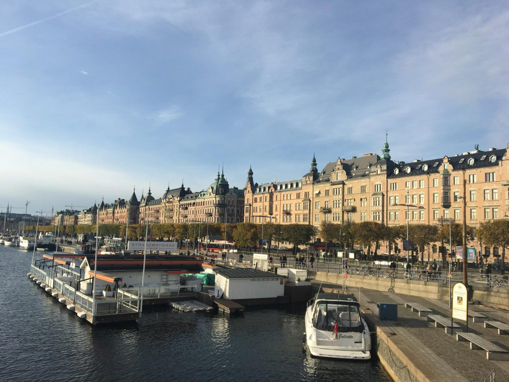 a waterway in Stockholm, Sweden