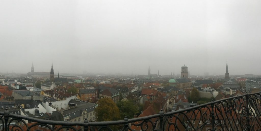 the magnificent view from the Rundetaarn, or Round Tower