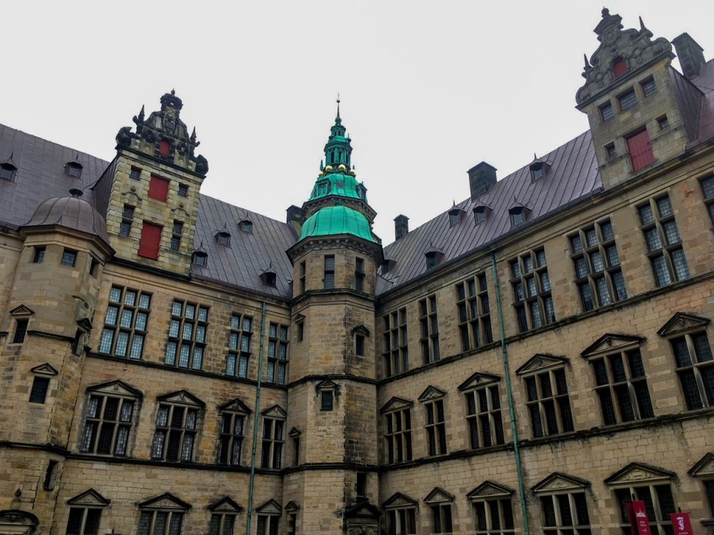 a view of Kronborg Castle from its courtyard