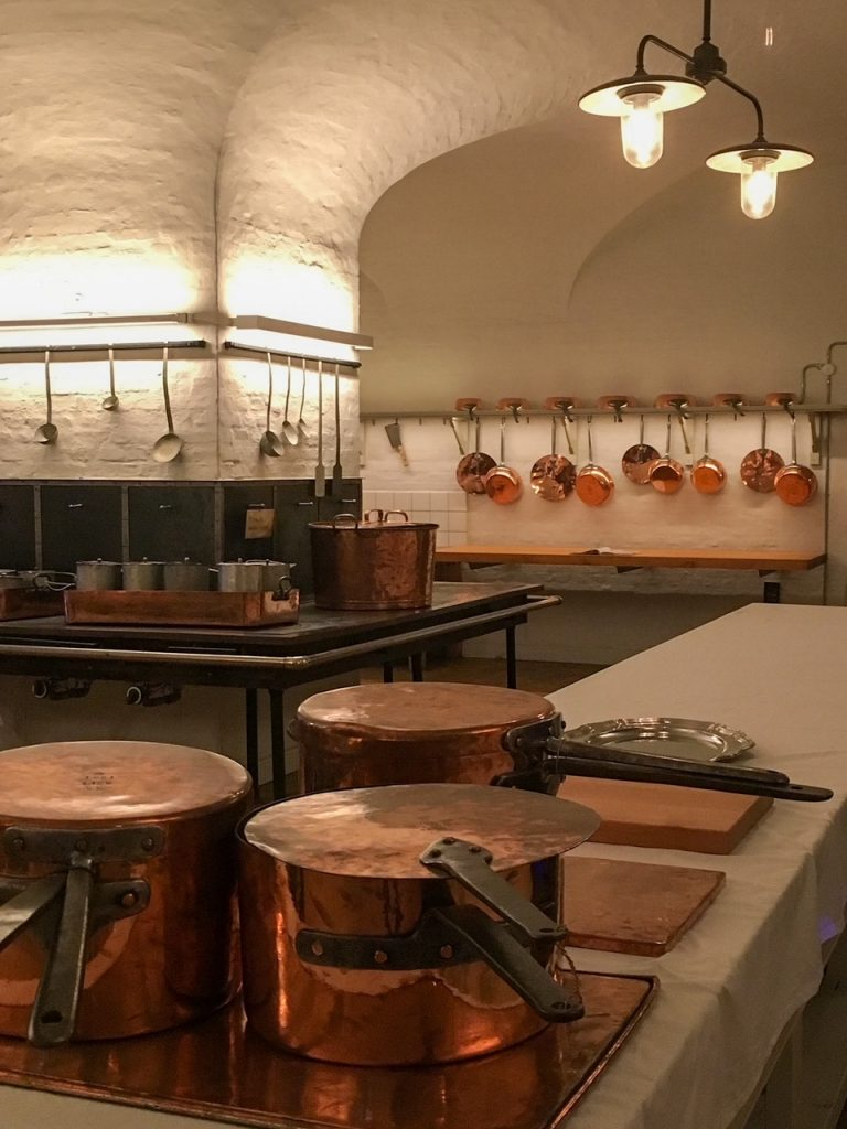 the kitchens at Christiansborg Palace