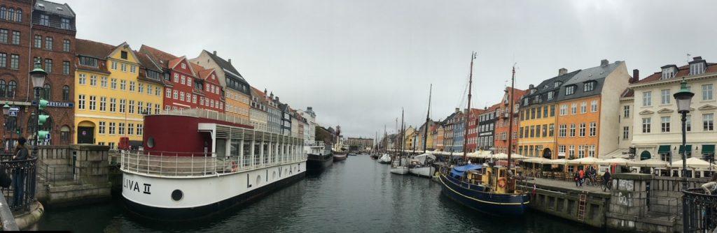 another view of Nyhavn in Copenhagen, Denmark